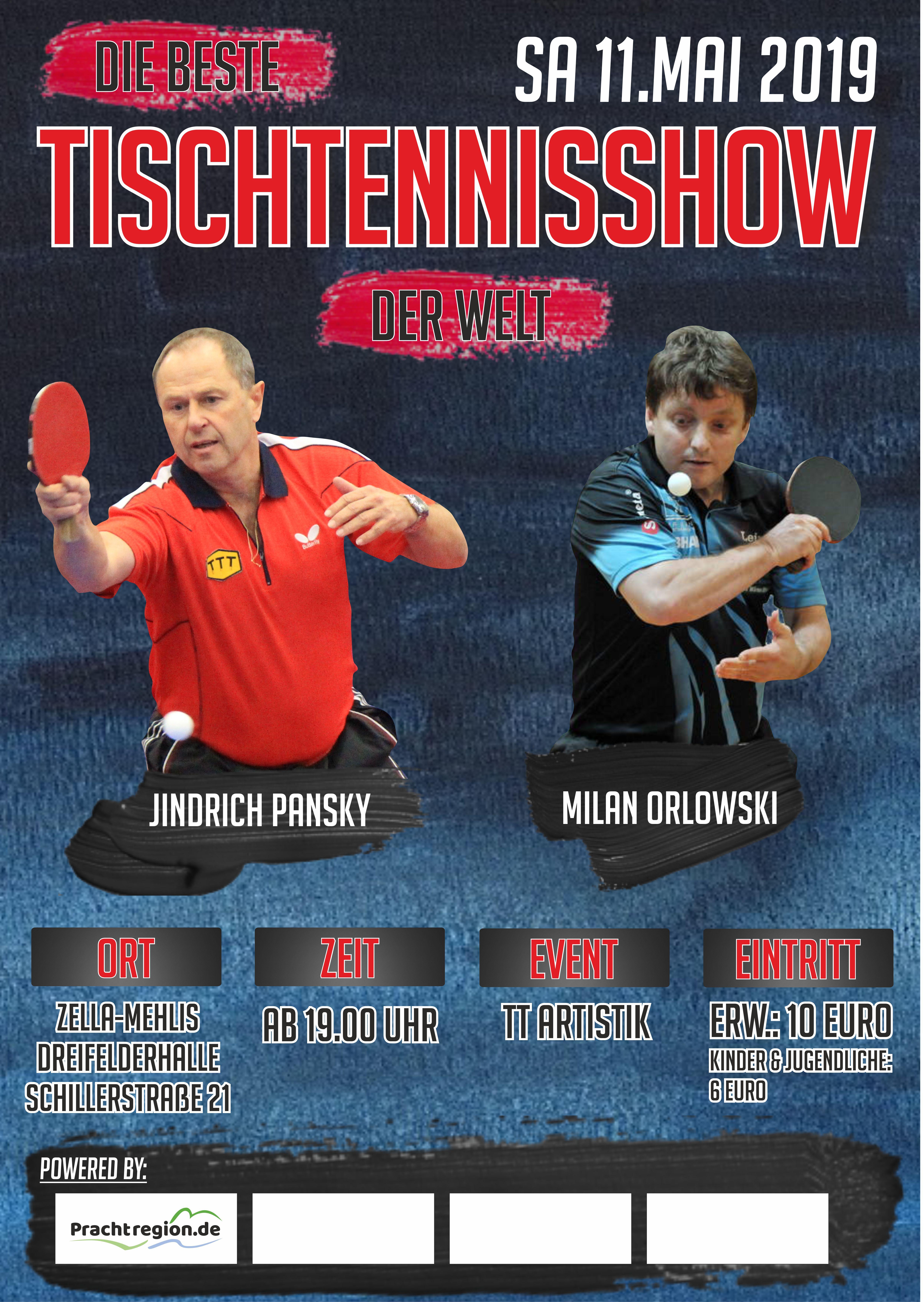 TSV Zella Mehlis Tichtennisshow Plakat 01 2019