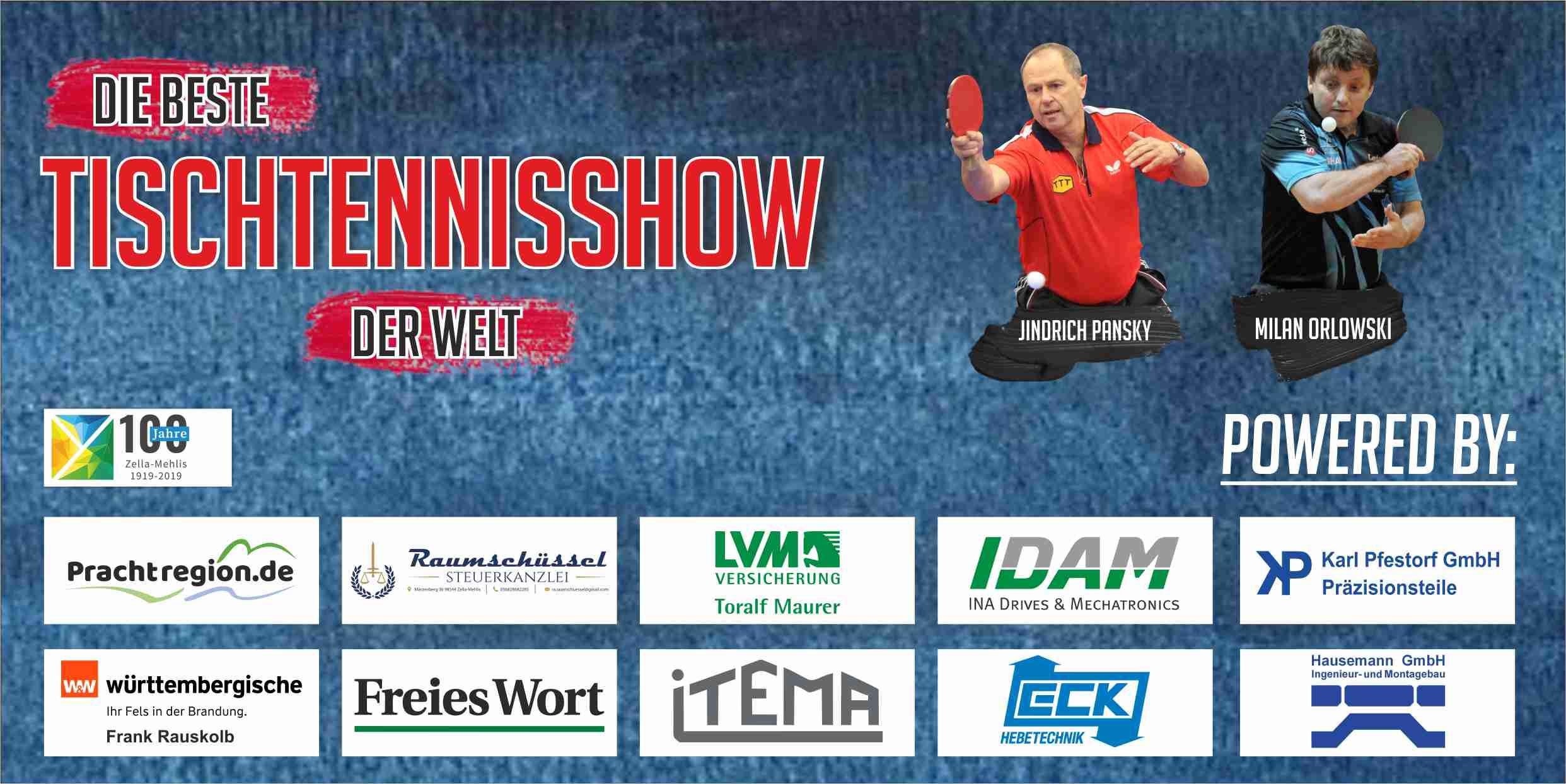 TSV Zella Mehlis Tischtennisshow Eintrittskarte Rück 02 2019