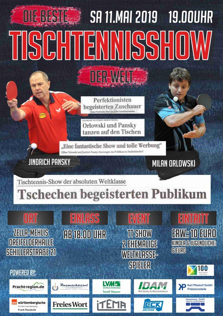 TSV Zella Mehlis Tischtennisshow Plakat 02 2019
